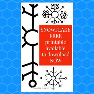 snowflake template printable FREE